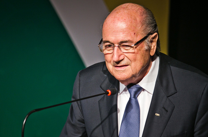 Blatter's compliments were welcomed with applause from officials in Rio de Janeiro [Thiago Dezan/Media NINJA]